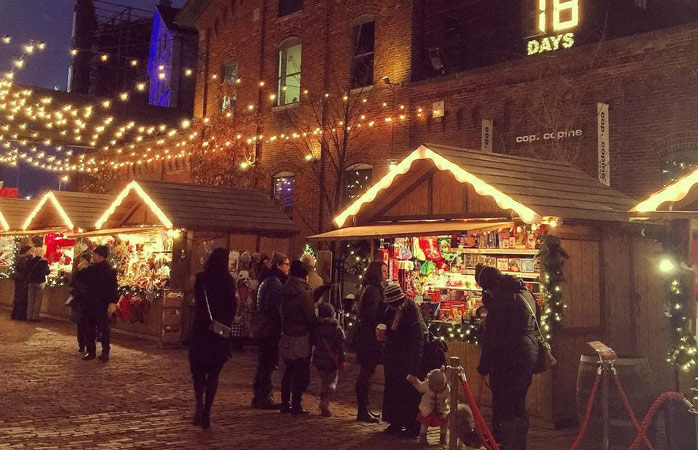 Christmas with a charming Canadian twist at Toronto's Distillery District