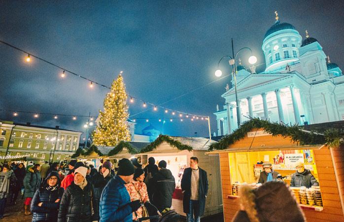 Meet Santa Claus himself at the Helsinki Christmas Market