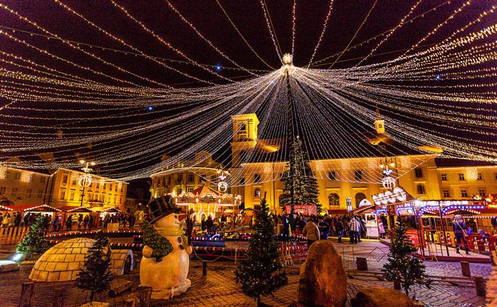 Sheer Christmas magic in the Romanian town Sibiu