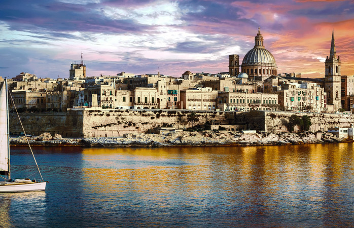 Ancient and littered with history the Maltese seaside city of Valetta