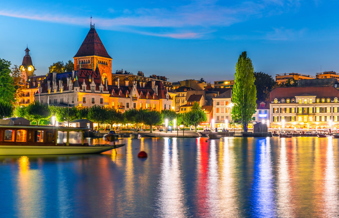 On the shores of beautiful Lake Geneva is Lausanne