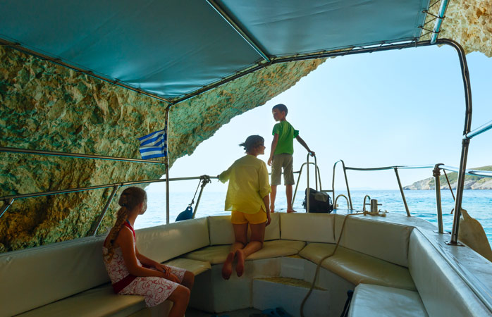 Let the kids play captain during your holiday in Zakynthos