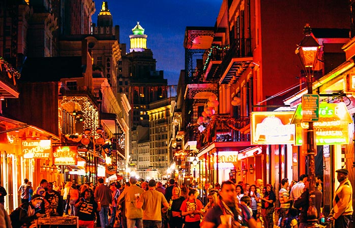 Packed streets (and hotels) at New Orleans Mardi Gras