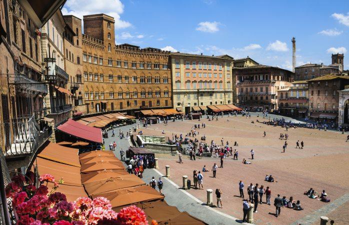 Piazza del Campo, the beautiful public space of Siena