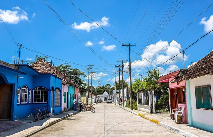 Stroll the brightly-colored streets of the beautiful town of Palizada