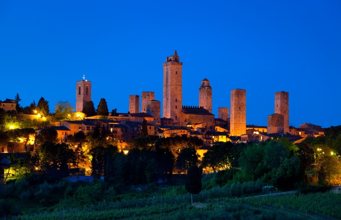 A selection of San Gimignano's many towers