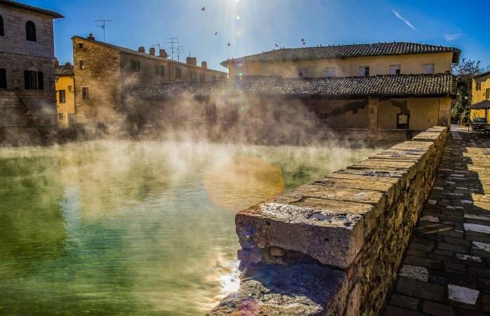 Jump in! Take a dip in the hot springs of Bagno Vignoni