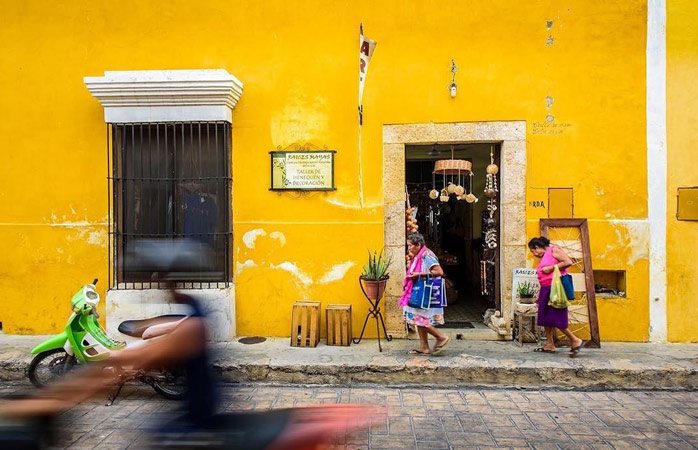 All things yellow - cruise the brightly-colored streets of Izamal, a town with a rich religious heritage