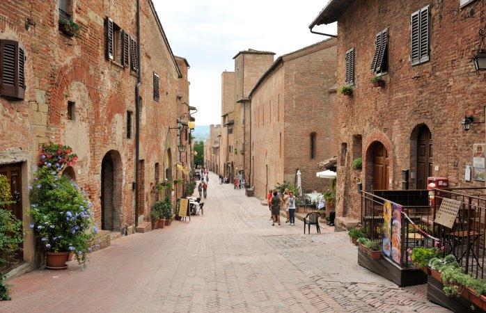 Via Boccaccio in Certaldo