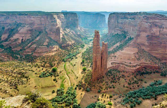 Spider Rock stands solitary amid the massive Canyon de Chelly