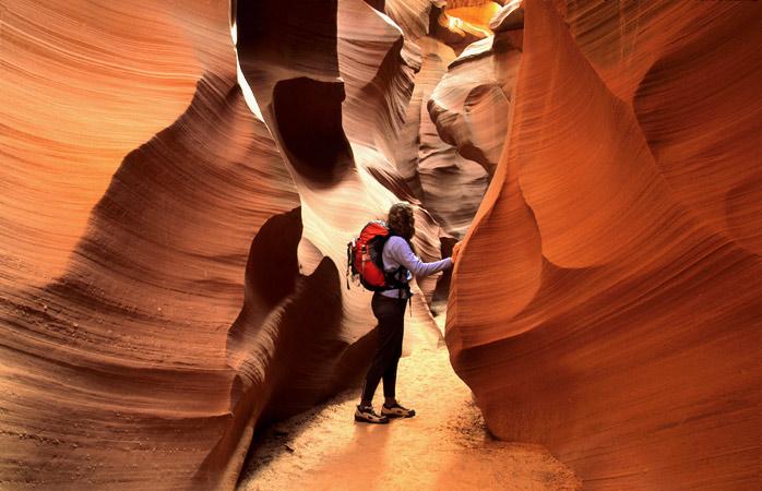 Slip and slide through Antelope Canyon's narrow corridors