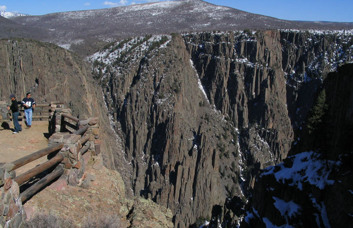 Stare into the vastness of the dark Black Canyon