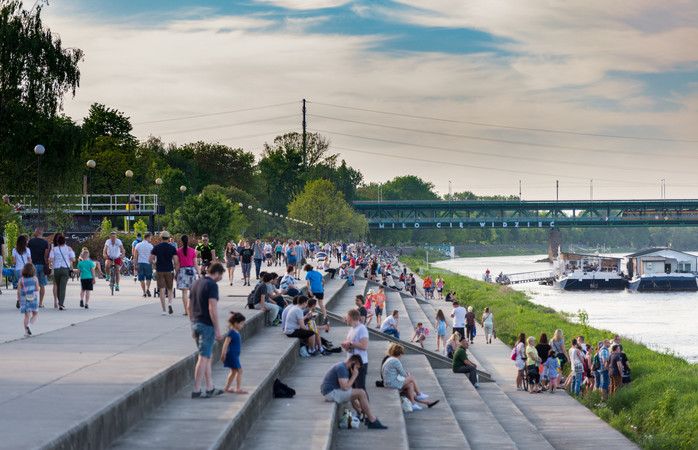 Sunbathe the day away in Warsaw before you head out for a night in the Polish capital