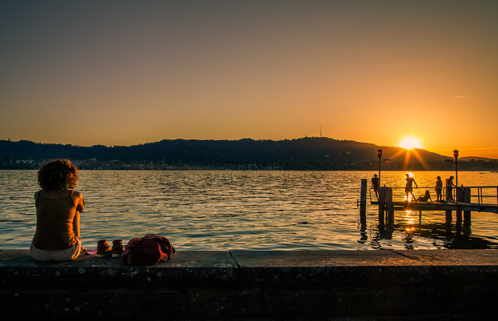Lake swimming is a must during summer in Zurich