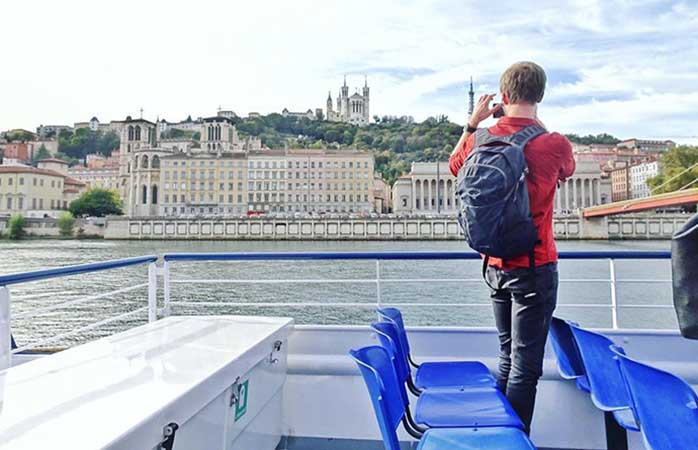 Sometimes city views are best experienced by boat