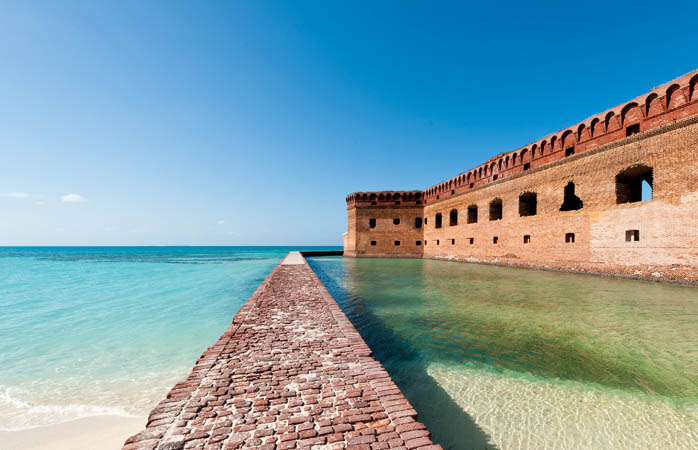 Blue water and red bricks: Fort Jefferson in a nutshell
