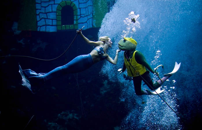 The wonderfully whacky mermaid show at Weeki Wachee Spring