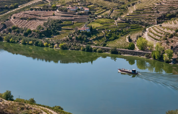 The Douro River seen from Tabuaço, near Viseu, Portugal