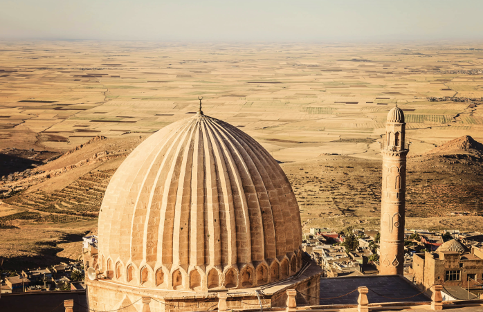 Climbing atop of Zinciriye Medresesi school building offers incredible views of the deserted plains of Mardin