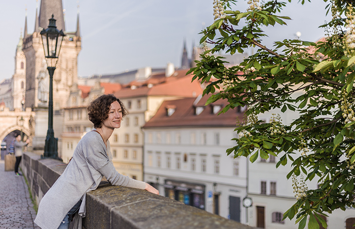 Arguably the most magical spot to pause and people watch in Prague is the Charles Bridge