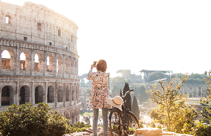 Sip, savour and stroll your way around the Italian capital, but a stop at the Colosseum is a must