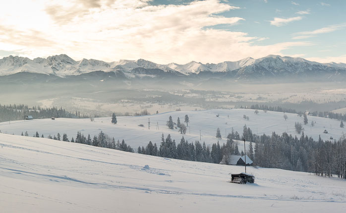 The Polish Tatra mountains.