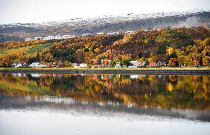 Autumn in Iceland's second-largest city, Akureyri