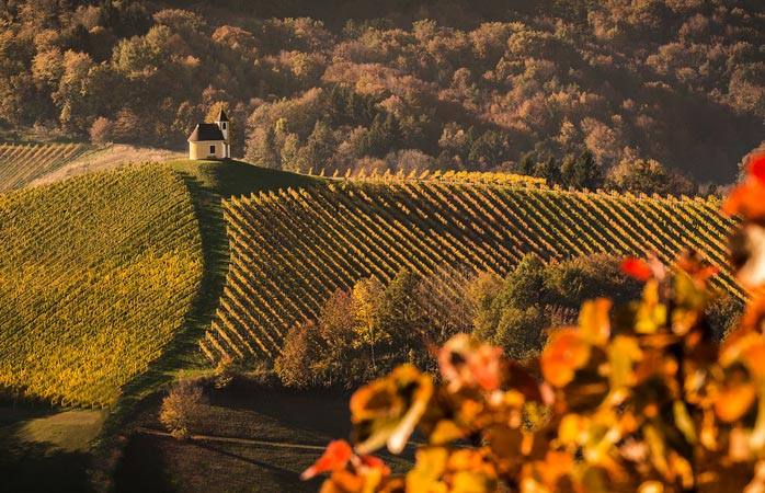 Autumn landscape in the Austrian Styria region