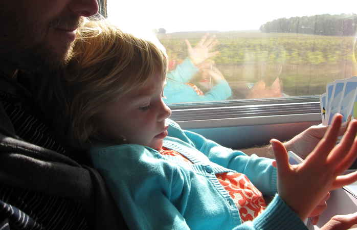 On the train, you can enjoy quality time with loved ones